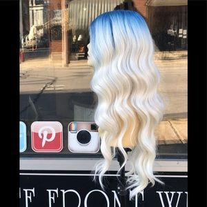 Accessories - Blue Ombré Beach Waves Lacefront Wig New 2020